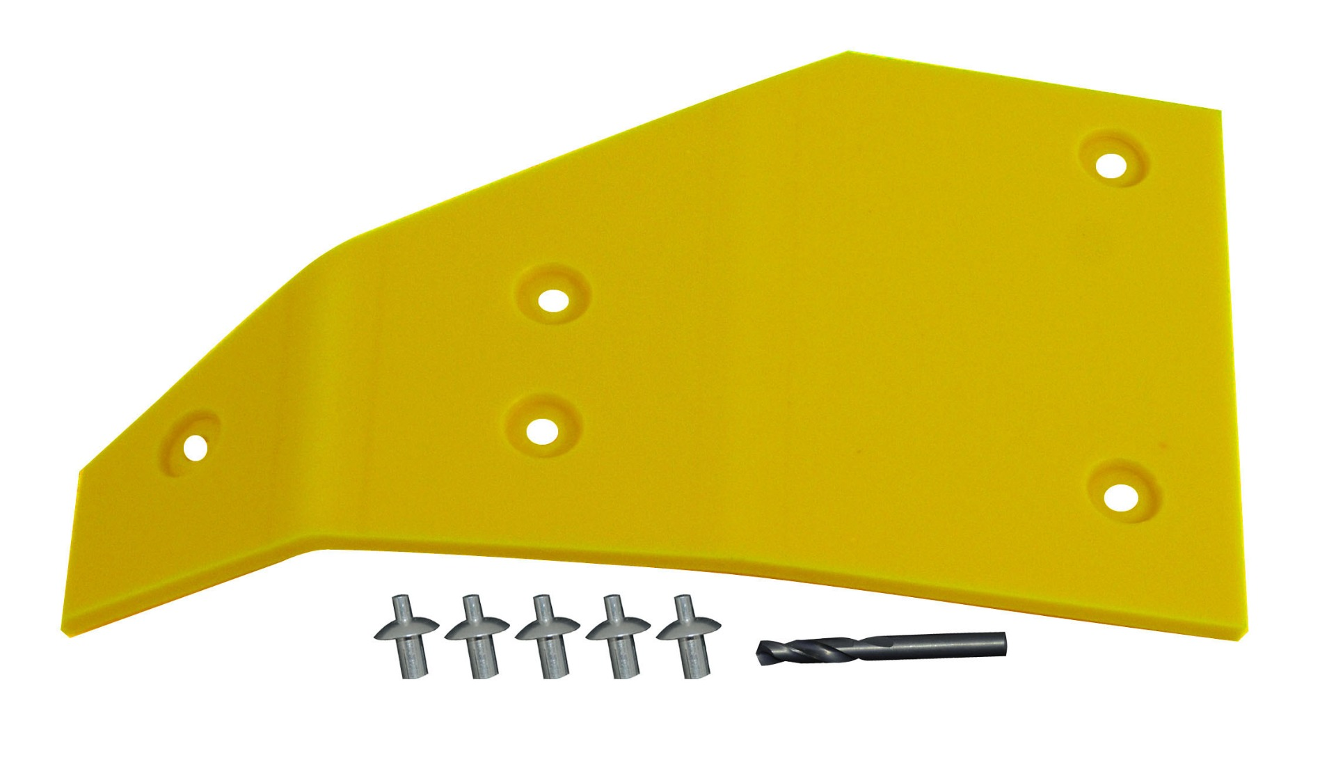John Deere Flex Head Poly Skid Left Hand End Skid - Yellow