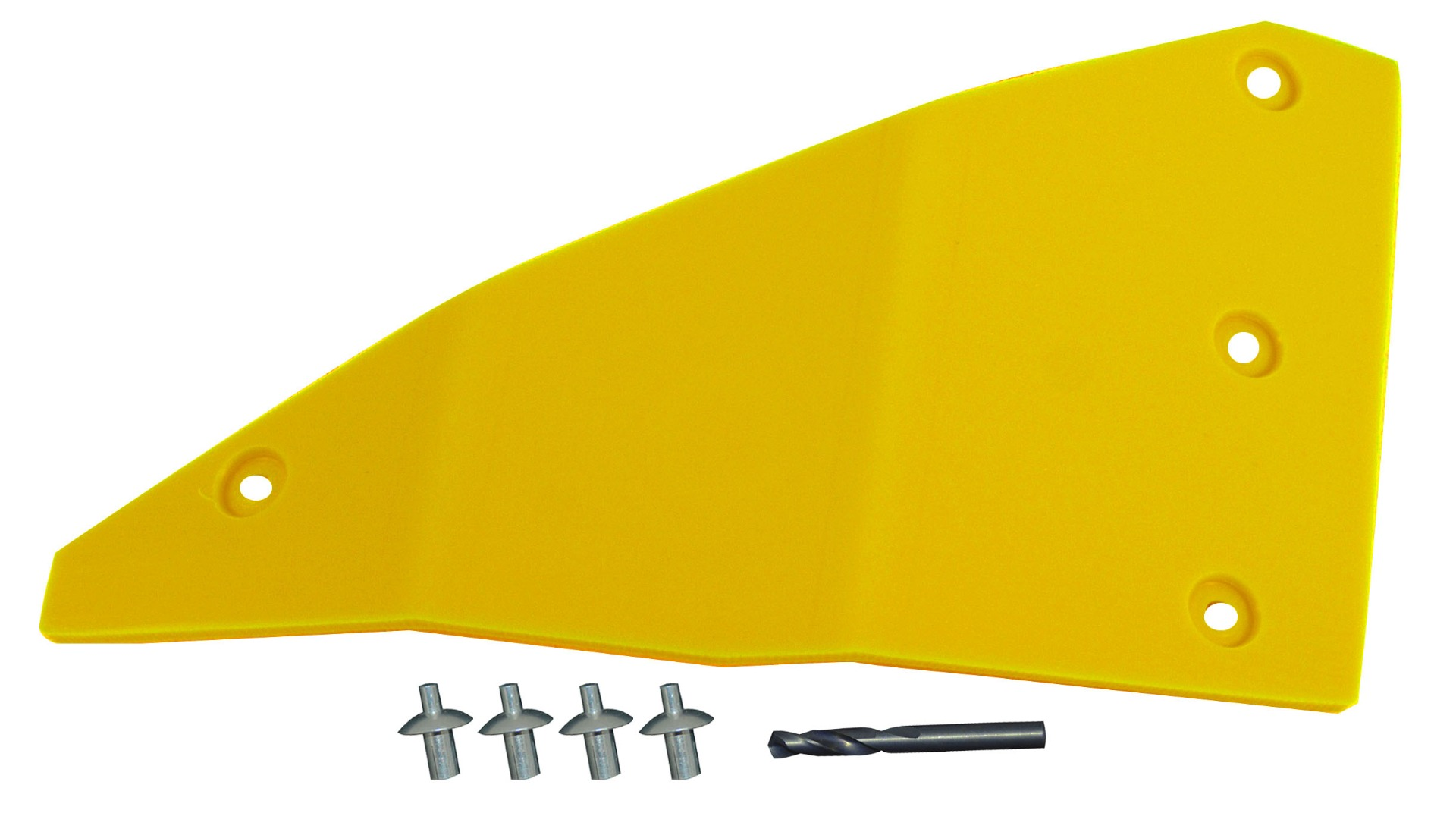 John Deere Flex Head Poly Left Hand End Skid - Yellow