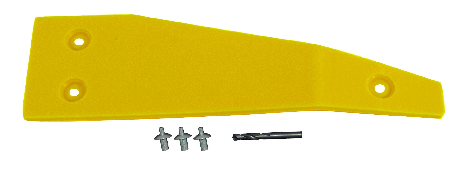 John Deere Flex Head Poly Right Hand End Skid - Yellow