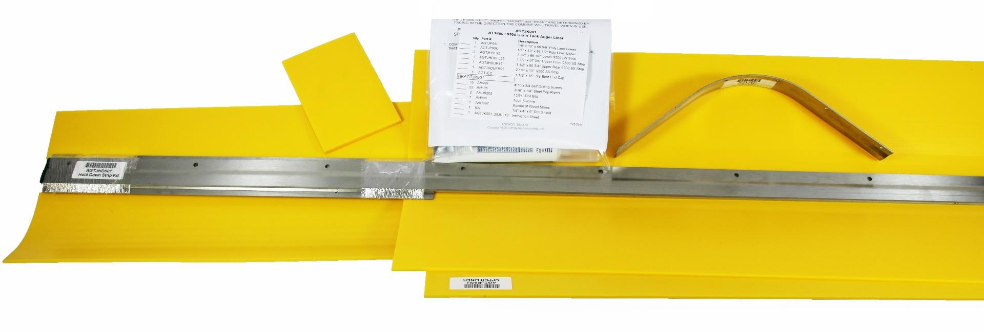 John Deere Grain Tank Auger Liner Kit for 9400/9500/9510