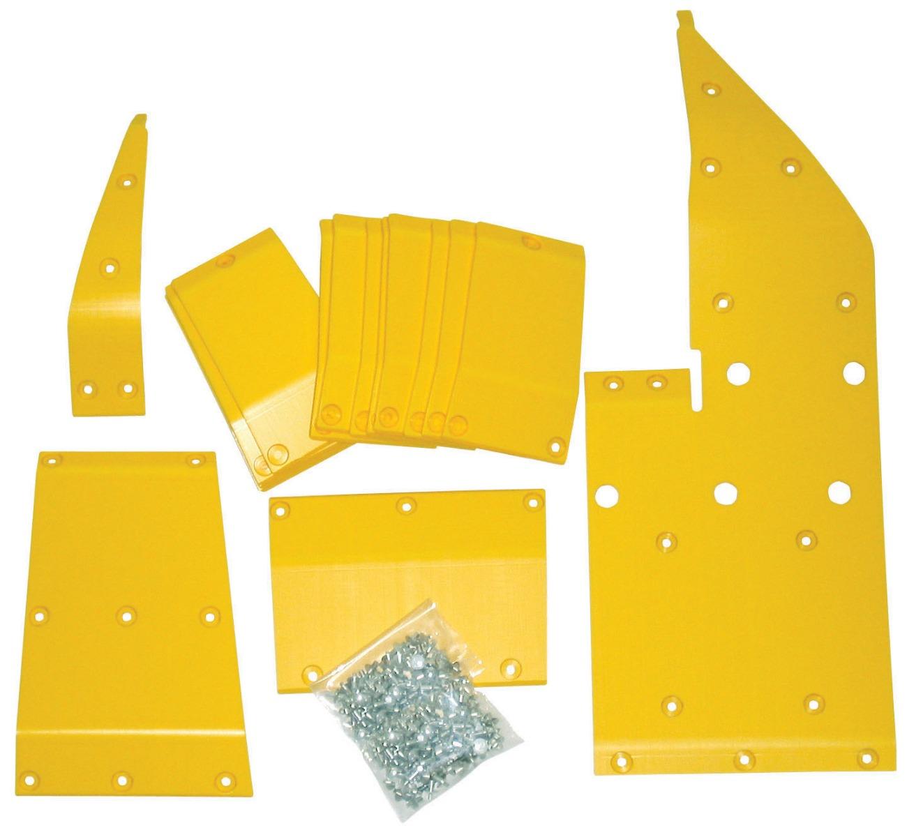 John Deere 600 Flex 635 - 35' Poly Skid Shoes - Yellow