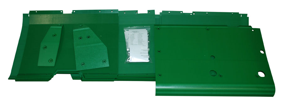 John Deere 915F 15 1/2' Flex Poly Skid Shoe Kit - Green