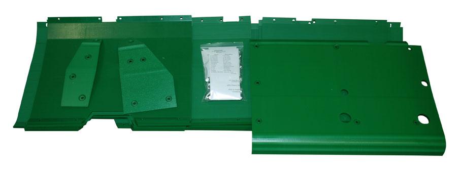 John Deere 920F 20' Flex Poly Skid Shoe Kit - Green